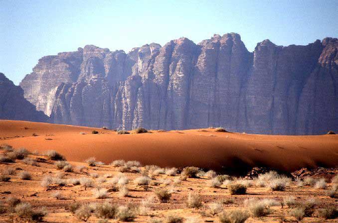 Jabal Umm ad Dami in Wadi Rum Jordan