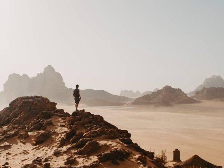 White desert, Wadi Rum, Jordan.